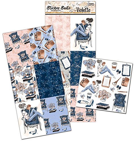 Violette Stickers Planner Girl Planner Suite - 3 sheets