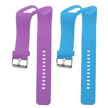 Dolity 2 Piezas de Pulsera para Polar A360 Reloj Inteligente Smartwatch de color Azul con Morado