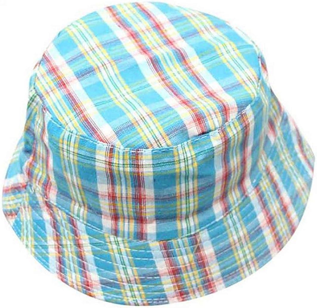 Plaid Bucket Hat Fashion Children Print Sun Cap Hip Hop Beach Lovely Girl Sun Hat