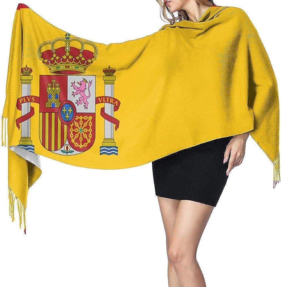 Bandera de España Moda para mujer Bufanda suave Bufandas con estilo Invierno Cálido Largo Largo Elegante Abrigo Chal Regalo de Navidad: Amazon.es: Ropa y accesorios