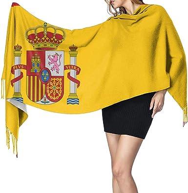 Bandera de España Moda para mujer Bufanda suave Bufandas con ...