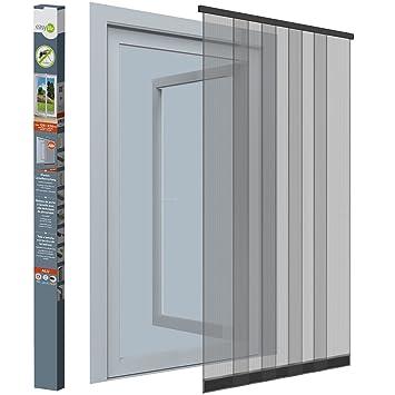 Insektenschutz-Vorhang - 125x220 cm - Lamellenvorhang für Türen mit ...