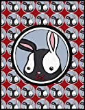 img - for Shh Bunny Red 8.5 x 11 365 Pages Combo Blank Grid Lined Journal Planner book / textbook / text book