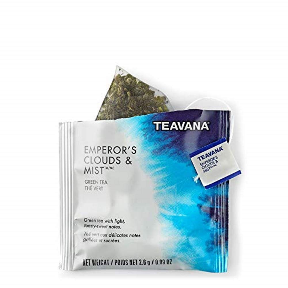 Starbucks Teavana Tea Sachets (Emperors Clouds and Mist Green, Pack of 24 Sachets) by Teavana