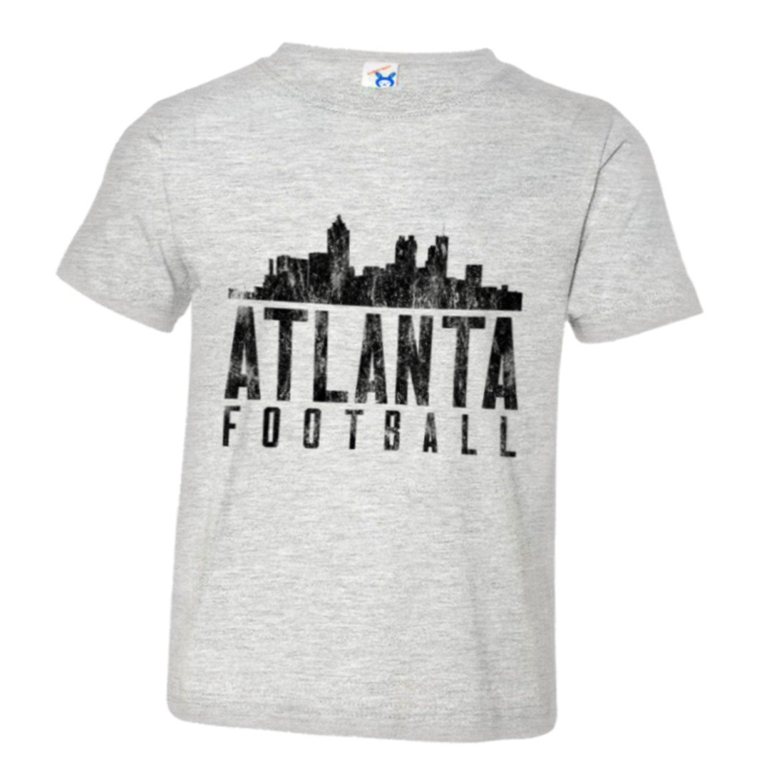 PleaseMeTees Toddler Atlanta Football Skyline Sports Distressed HQ Tee Shirt