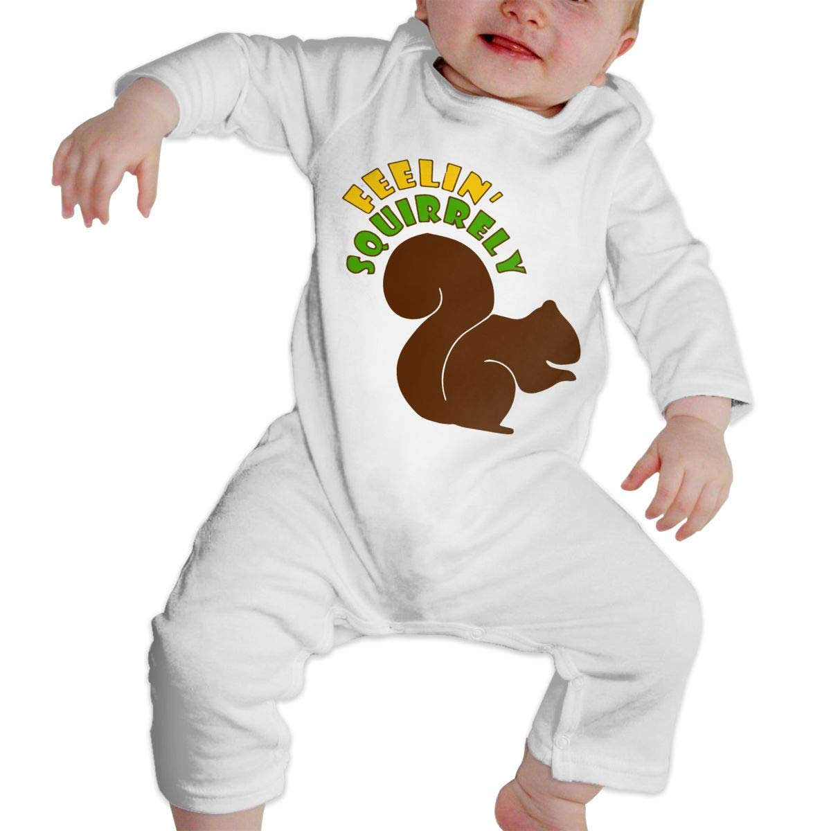 Mri-le1 Baby Girls Bodysuits Feelin Squirrely Baby Clothes