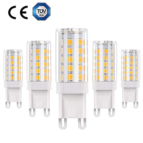 Vicloon G9 Bombilla LED - 5W / 500LM 2835LED, Equivalentes a Lámparas halógenas de 50W