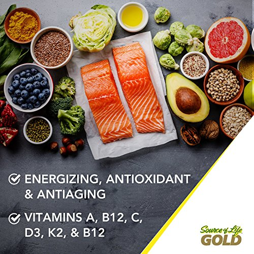 Natures Plus Source of Life Gold - 180 Vegetarian Tablets - Daily High Potency Antioxidant and Anti-Aging Whole Food Multivitamin Supplement, Energy Booster - Gluten Free - 60 Servings by Nature's Plus (Image #2)