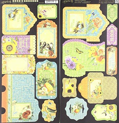 Graphic 45 Seasons Tags & Pockets - Die-Cut Cardstock
