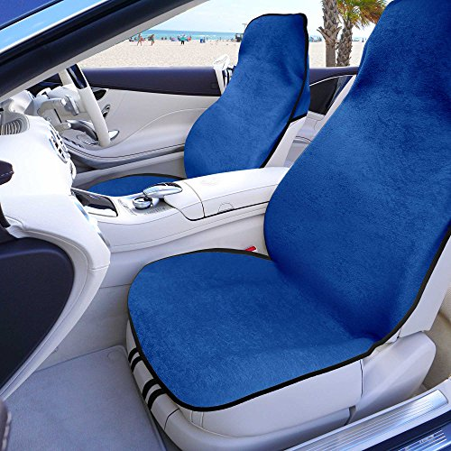 LIMITED TIME ONLY 20% off SALE: FH GROUP FH1006 Multifunctional Beach,Set of 2 Fitness Towel Car Seat Covers, Blue Color- Fit Most Car, Truck, Suv, or Van by FH Group
