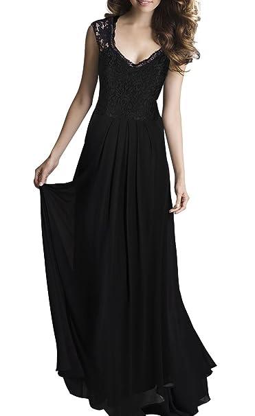Queen Diana Vestito - Donna Nero L  Amazon.it  Abbigliamento f659ddac1df