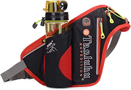 porte bouteille sangle Sport fitness voyage festival bum sac fanny pack 2 poches