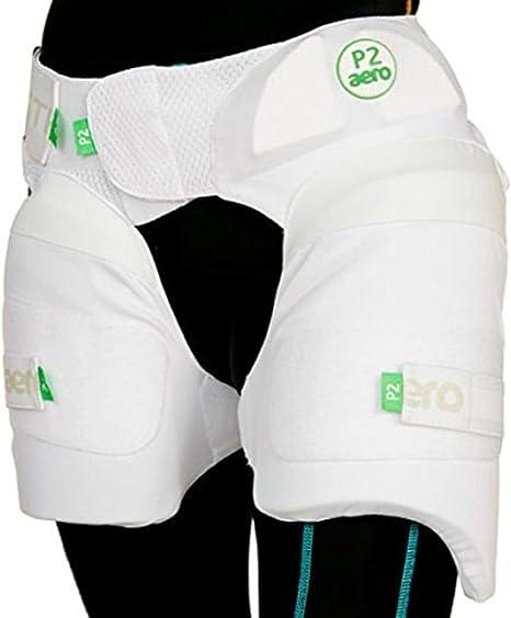 Aero Cricket Batting Protection P2 Stripper Batsman Leg Protectors Thigh Pads Amazon Co Uk Sports Outdoors