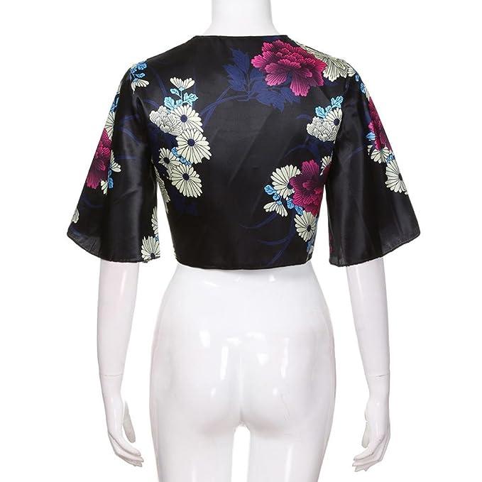 b39c560d3 Oksale Baby Girl s Short Bandage Wrapped Blouse Floral Print Shirt ...