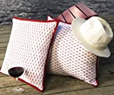 Classic Crimson Designer Bohemian Country Style Beach Throw Pillow Cover
