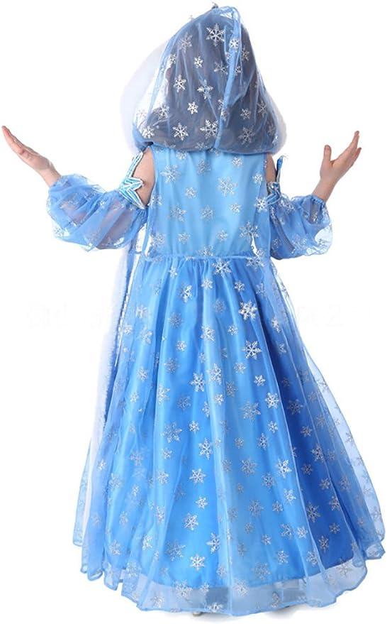 Princess Disfraz de reina de nieve de tres piezas con gorra para ...