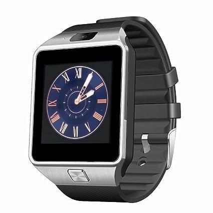 Smartwatch Android , Bluetooth inalámbrico inteligente reloj GSM SIM TF tarjeta con reloj de alarma de la cámara Reloj de monitor de pedómetro para ...