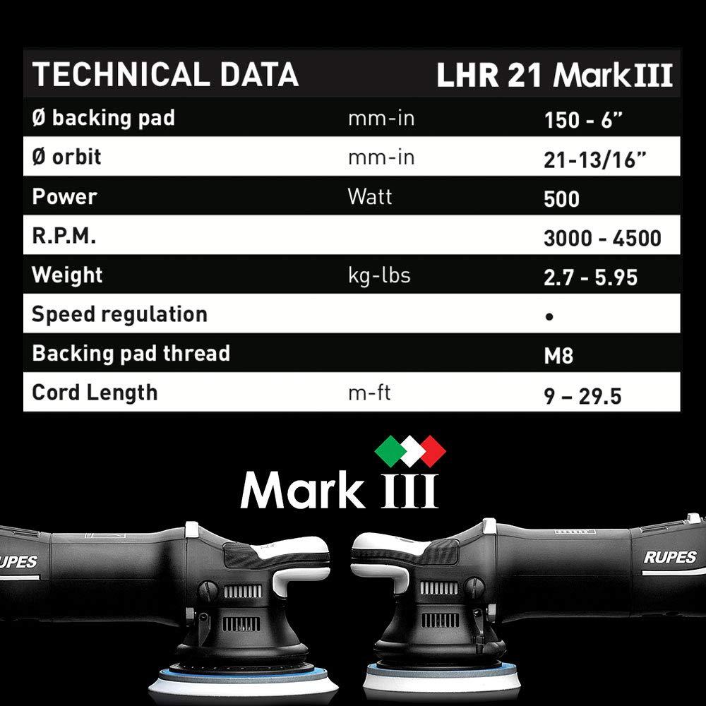 Detail King Rupes LHR 21 Mark III Big Foot Random Orbital Polisher
