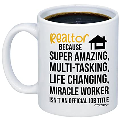 Amazon MyCozyCups Realtor Mug