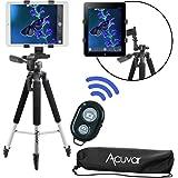 "Acuvar 57"" inch Pro Series Tripod, Acuvar Tablet Mount, Bluetooth Shutter Remote for Apple iPad, iPad Air, iPad Mini, Most Other Tablets"