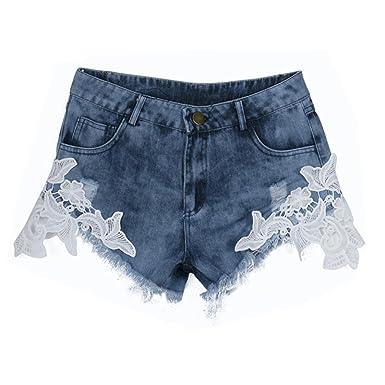 Kolylong Ete Femme 2016 Femmes Sexy Vintage Femmes Taille Haute Short en  Jean Shorts Jeans Hot caf2f9189e6