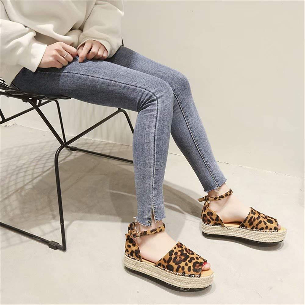 /Ét/é Semelle /Épaisse Sandales Plates Compensees Bout Ouvert Su/ède Sandale Noir Violet Rose L/éopard Taille 35-43 EU Sandale Plateforme Femme