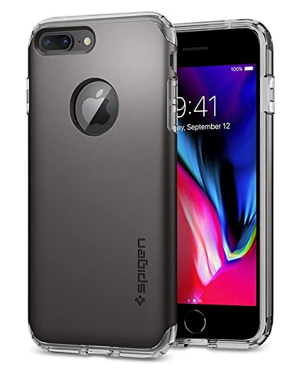 best service 018cd b52da Spigen Hybrid Armor iPhone 7 Plus Case with Air Cushion Technology and Drop  Protection for iPhone 7 Plus (2016) - Gunmetal