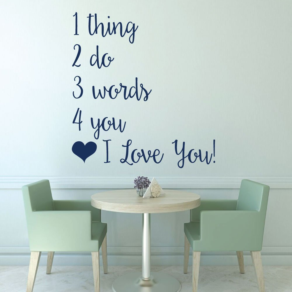 Amazon.com: Love Song Vinyl Wall Decals - Couple\'s Gift Home Decor ...