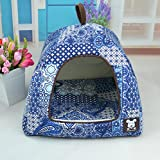 NEO Home Mongolian Yurt Shaped Dog House Bed with Removable Cushion inside,For Small Dogs or Cats.Multiple Sizes and Colors.
