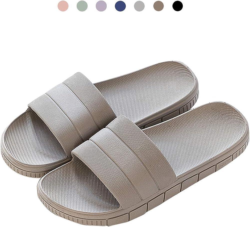 GURGER Claquettes Femme Homme Pantoufles Chaussures de Piscine Plage Bout Ouvert Sandales