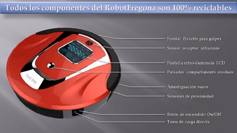 Robot Aspirador completo con accesorios. El mejor del mercado, auto-recargable, autonomia 90-120 min, mando a distancia, modo silencioso, capacidad deposito ...