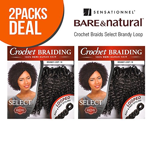 MULTI-PACK DEALS! Sensationnel Remy Human Hair Crochet Braids Select Brandy Loop 2Pcs (2-PACK, 530)