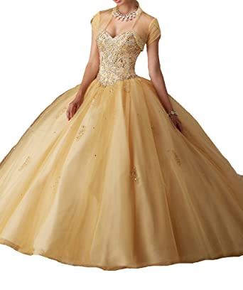 Amazon.com: MCandy Women\'s Beads Ball Gowns Girl\'s Pageant ...