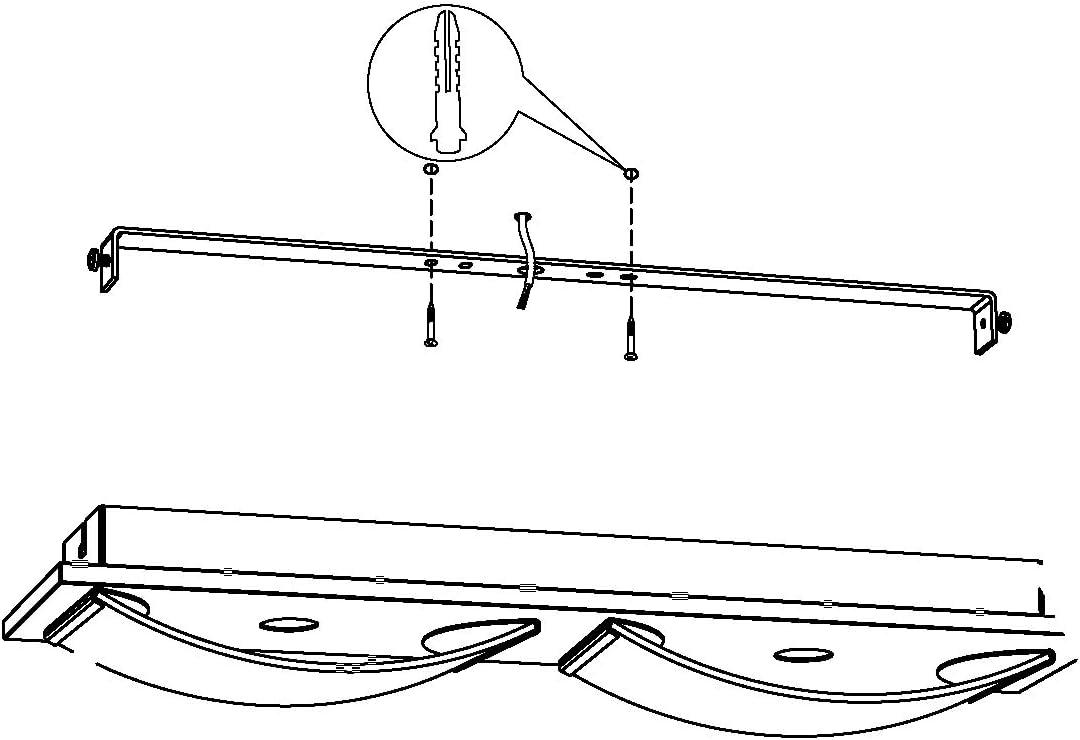 chrom Edelstahl 21 x 10,5 cm 5.4 W EGLO WASAO 1 Wand- // Deckenleuchte