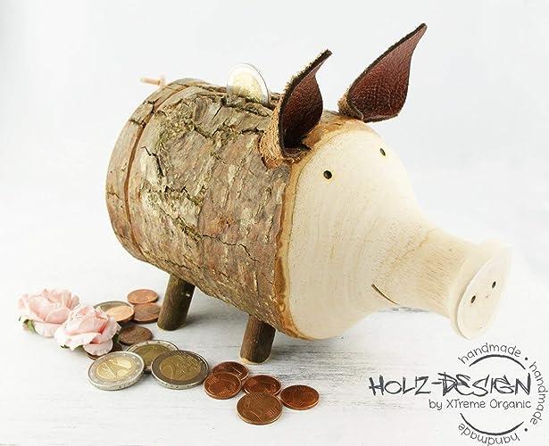 Sparschwein Holz Spardose Geldgeschenke Schwein Sparbuchse Deko