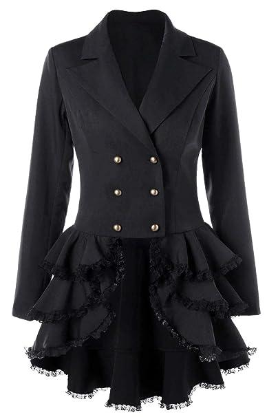 Amazon.com: Chaqueta para mujer de tuxedo gótico de chaleco ...