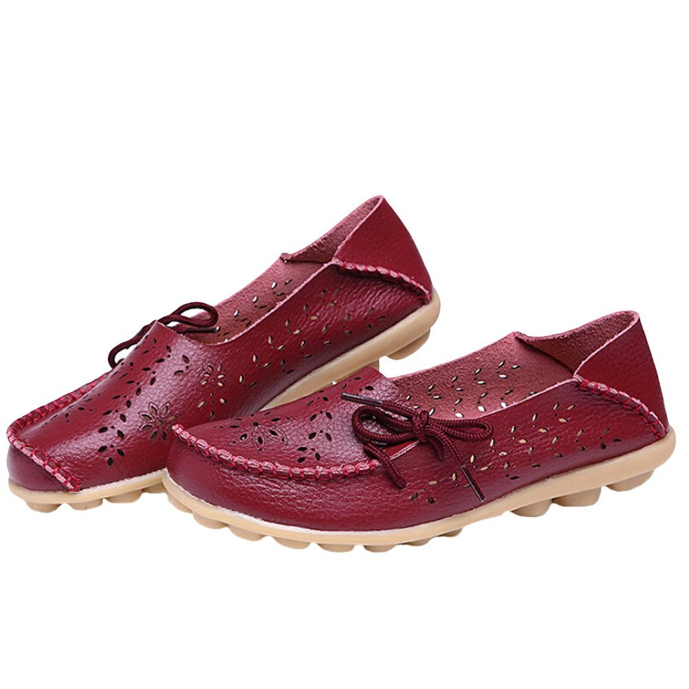 MatchLife Femme Rétro - Cuir Flach Pumpe Casual Chaussures - Rétro B01EL7GYH0 - Chaussures bateau 6b3fe6