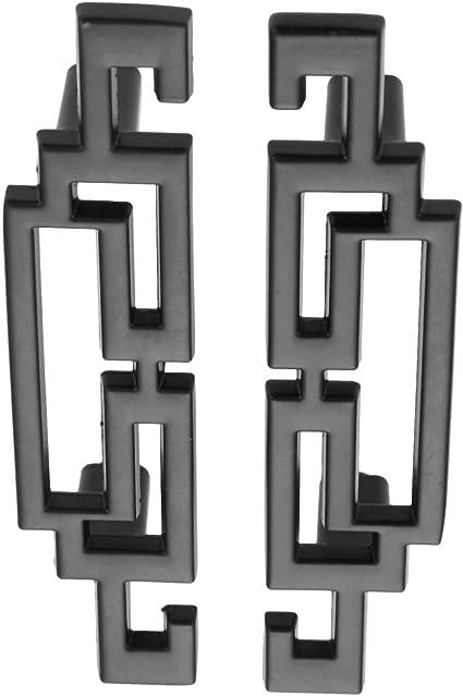 50 pezzi nero 64 mm Pomello nero per cassetti e armadietti