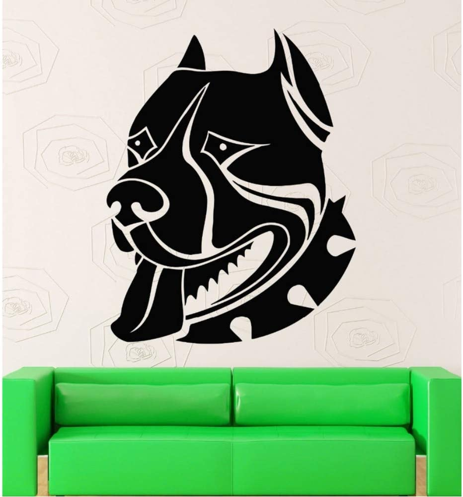 Wuyyii Pegatinas De Pared American Pitbull Terrier Dog Portrait Guard Vinilo Para Mascotas