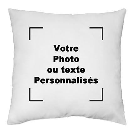 Luxbon Housse de Coussin 45x45 cm Double-Face personnalis/é Photo et Texte Taie doreiller Decor DIY Anniversaire No/ël Saint Valentin Cadea