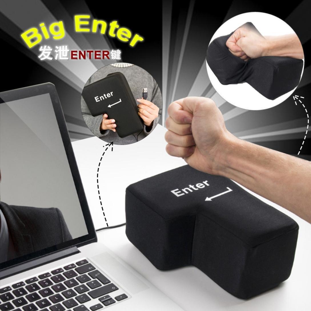 Invio tavolo Pillow, Bescita USB tasto ufficio desktop schiuma cuscino pisolino Vent Tool periferica chiavi nero Nero