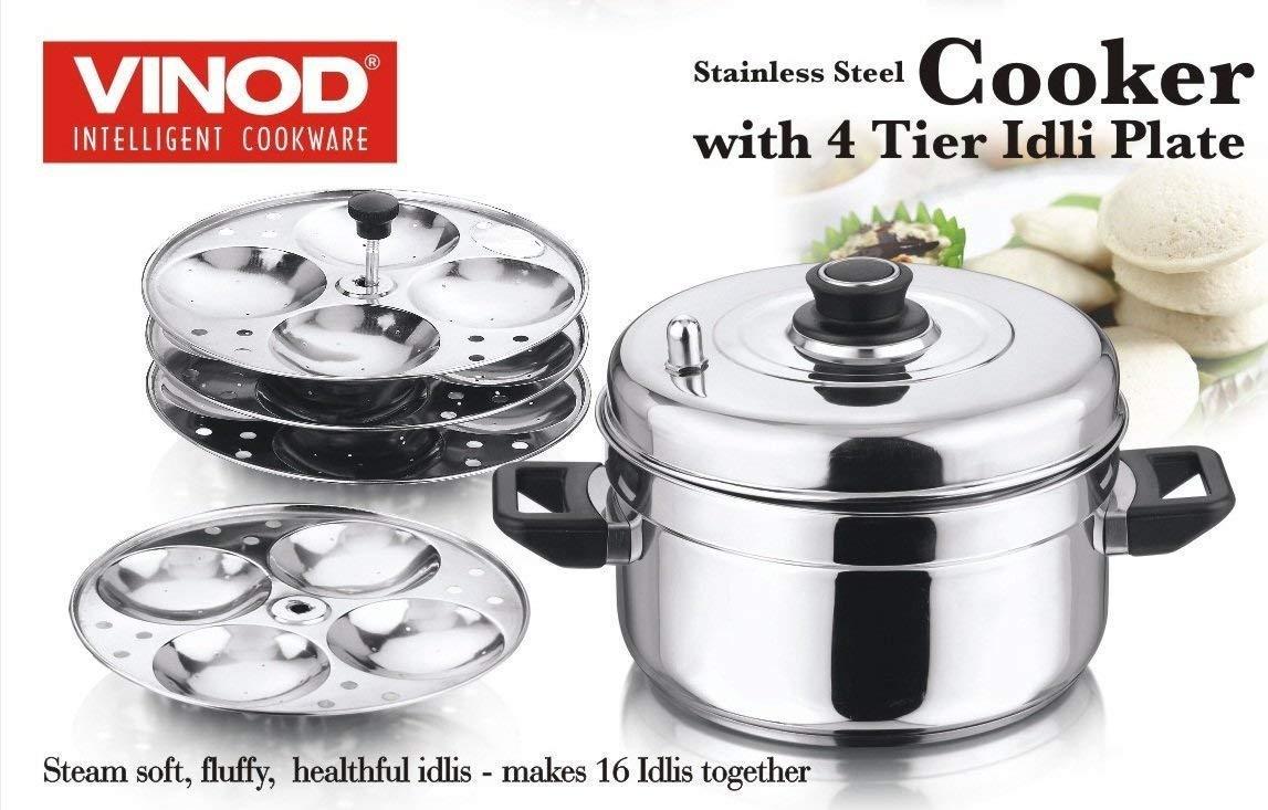 Vinod Stainless Steel Idli Cooker Kitchen Home Induction Buy Circuit Boardsolar Cookerinduction