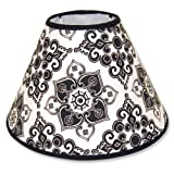 Trend Lab Lampshade, Black and White Versailles Print, Baby & Kids Zone