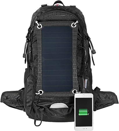 WishY Cargador Solar Mochilas 7W Paneles Solares, Bolsa De Agua para Ciclismo, Conveniente para Acampar Senderismo, Carga De Smartphone,Black: Amazon.es: Hogar