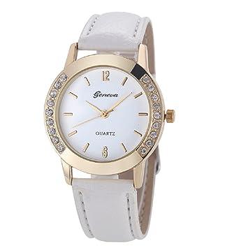 Xinantime Relojes Pulsera Mujer,Xinan Cuero del Diamante Analógico Relojes de Cuarzo (Blanco): Amazon.es: Deportes y aire libre