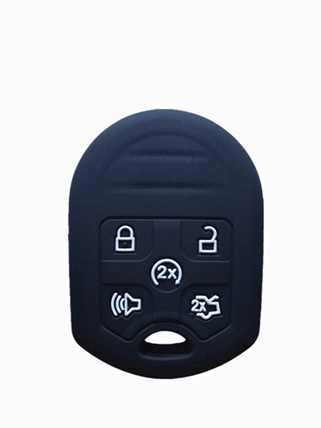 KAWIHEN Silicone Keyless Entry Case Cover Smart Remote Key Fob Cover Protector For Ford Edge Expedition Explorer Flex Focus Fusion Mustang Taurus 164-R8000 CWTWB1U793
