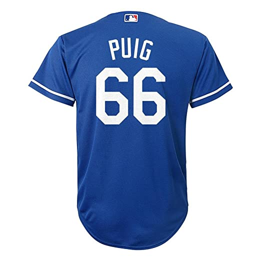 best authentic 7f2ce 8d7ef Majestic Athletic Yasiel Puig Los Angeles Dodgers Blue MLB Youth Alternate  Replica Cool Base Jersey