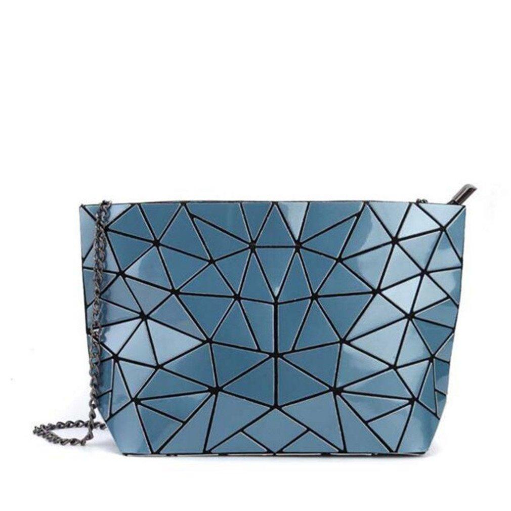 レーザーバッグバックパックファッション新しいレザーKorsデイパックレーザー幾何学ダイヤモンド形状レディースバッグKankenバックパック US サイズ: blue カラー: ブルー B0773M7H7G blue ブルー ブルー blue