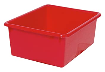 Steffy Wood Products Red Storage Tub, 5 Inch By 10 1/2