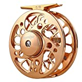Sougayilang Fly Fishing Reel with Ultralight Anti-oxidation A7075 Space Aluminium, Stainless Steel Drag